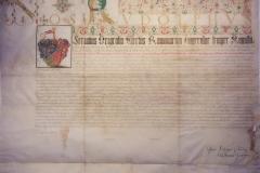 II. Rudolf nemességet adományoz Berky Boldozsárnak és Gáspárnak, Prága, 1584